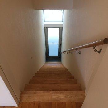 玄関からお部屋への階段結構あるんですよね。