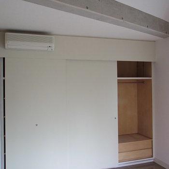 収納も問題なく※3階の同間取り別部屋の写真です