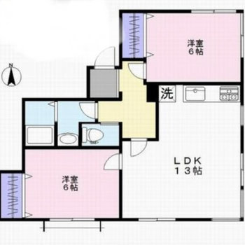 どの部屋も広くて良い◎