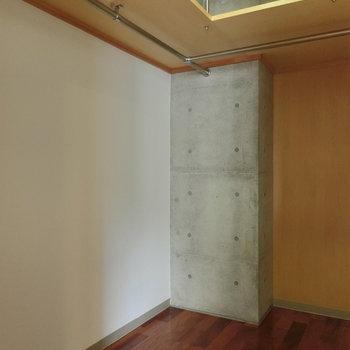ウォークインクローゼット ※写真は5階の同間取り別部屋です。
