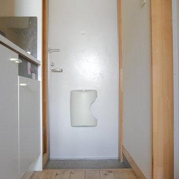 お部屋から玄関を。