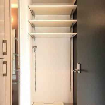 お風呂へはベッドルームからもアクセスできます ※8階反転間取りの別部屋の写真です