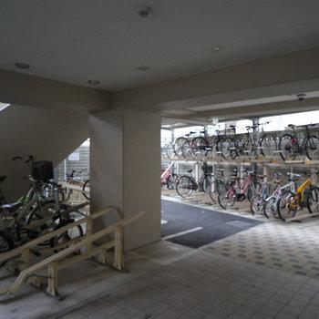駐輪場もあります※前回募集時の写真です