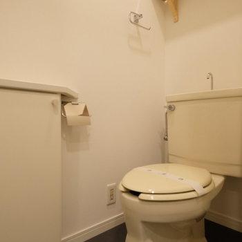 トイレは棚と小さな収納が!