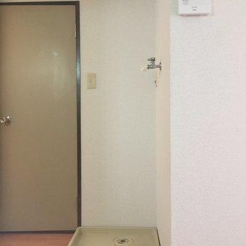 洗濯機置場はお手洗いの近くですね。
