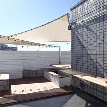 そして屋上は居住者限定の共有スペース! ※前回募集時の写真です