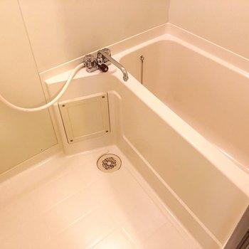 お風呂、シャンプー置く棚の広さありそうです!