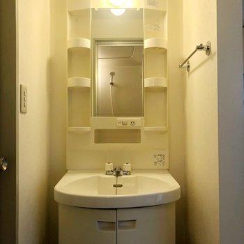 洗面台のまあるい感じがかわいい