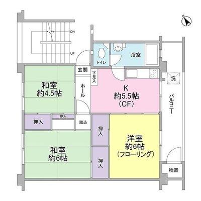 日野新坂下住宅1号棟 の間取り