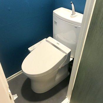 トイレもブルー!