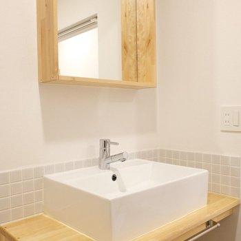 【イメージ写真】洗面台も木のぬくもりあるものに新しくなります!