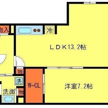 広々したお部屋です。