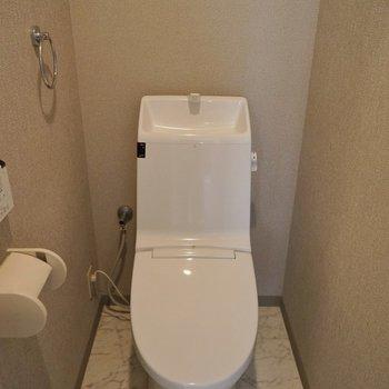 シュっとしたトイレ。
