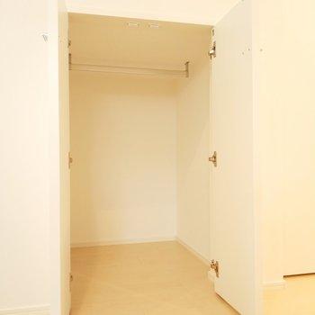 居室には奥行きある収納場所も完備!