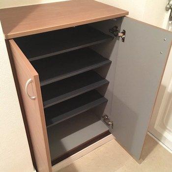 シューズボックスは小さいので、棚を置いたり工夫を!