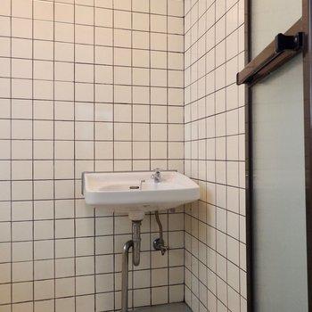 ちょこんと手洗い場。