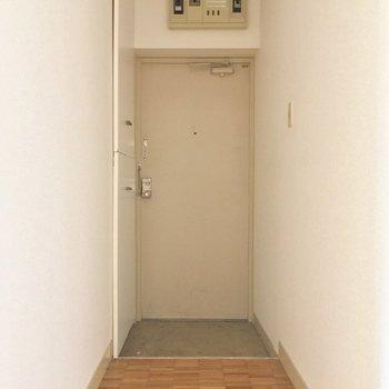 玄関はすっきり奥まった所に。シューズボックスも大きめです!※クリーニング・電気が付く前
