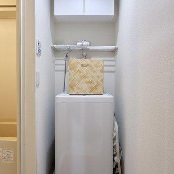 洗濯機上にも店ついてます。