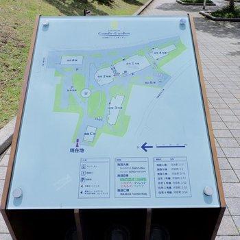 敷地内地図です。