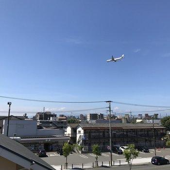 飛行機が見える!