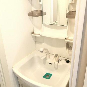 洗面台はいたってシンプルです。