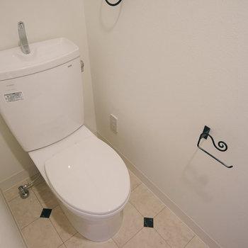 トイレの小物も可愛いです!