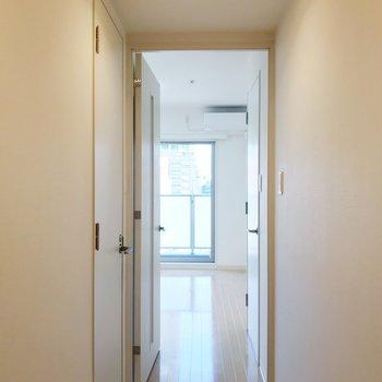 玄関からの眺め。まるで、ホワイトソースを散りばめたかのよう。