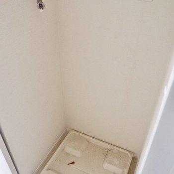 洗濯機置場も脱衣所に。バルコニーすぐで導線◎
