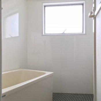 シンプルなお風呂ですが日中は明るいです!
