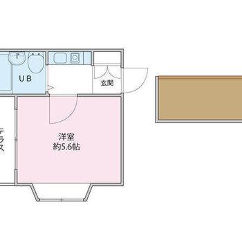 2階の角部屋、2面採光!