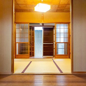 【和室】四畳半の和室。
