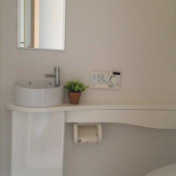 独立した手洗いコーナー!かわいいなあ。