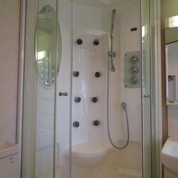 意外と機能性の高いシャワールーム