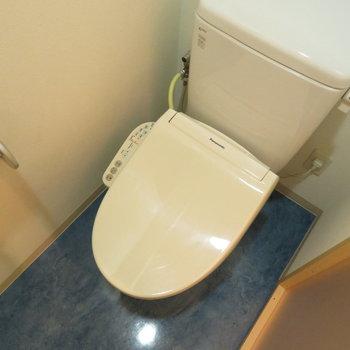 温水洗浄便座付きのトイレです!