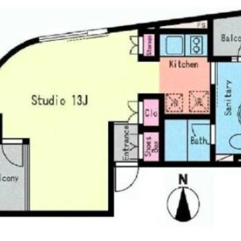 アーチ状のお部屋。