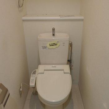 トイレはウォシュレットつき※写真は同間取り別部屋です