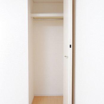 洋室②2人暮らしでもしっかり収納分けられます!
