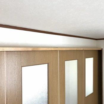 そしてこの洋室側の上のスペース、、、絶対猫ちゃんは登るよね〜。(※写真は清掃前のものです)
