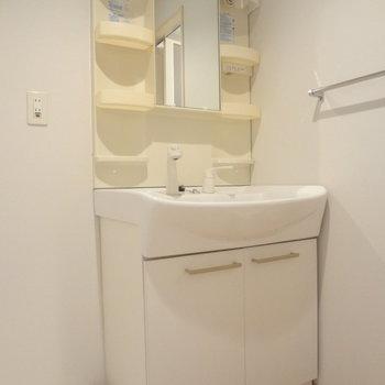 洗面台はドレッサータイプ。使いやすそう。※写真は別室です