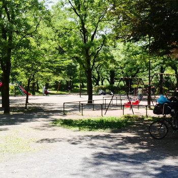 広々とした都立公園です。