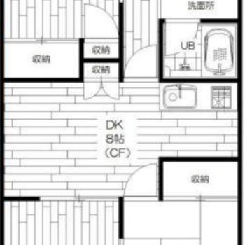 3DK間取りのお部屋です。