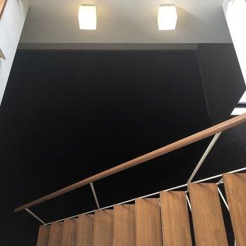 下階を覗くと。