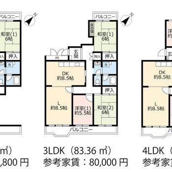 将来、引越すことなく3LDK、4LDKへと間取りが変更できる、面白いお部屋です