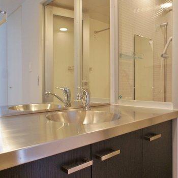 洗面台も良いデザイン!※写真は反転間取り2階の別部屋です。