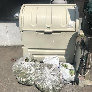 敷地内ゴミ置き場もありました〜!