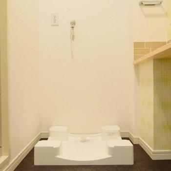洗濯機置場は脱衣所に。※写真は前回募集時のものです。