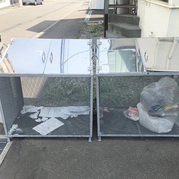 敷地内ゴミ置き場もありました!※写真は同間取り別部屋です