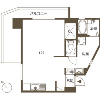 広いワンルームでゆったり1人暮らしを。