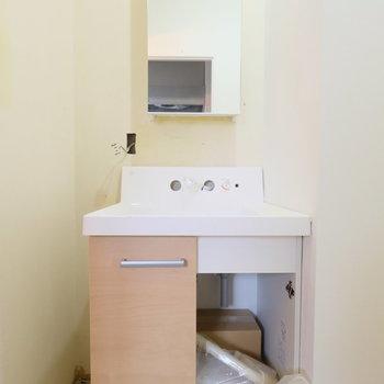 【工事中】洗面台はイメージ写真とは違う色です!