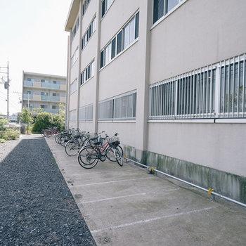 屋外駐輪場です!